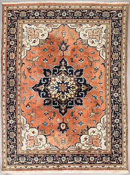 An carpet, Heriz, 324 x 242 cm.