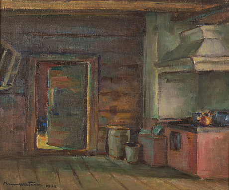 Kaapo wirtanen, oil on canvas, signed and dated 1938.