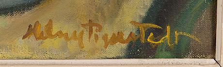 Helny tigerstedt, öljy kankaalle, signeerattu.