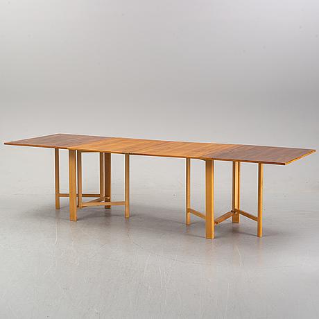 A 'maria flap' gateleg table by bruno mathsson for karl mathsson, dated 1968.