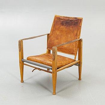 "Kaare Klint, Armchair, ""Safari Chair"", second booklet of the 20th century."