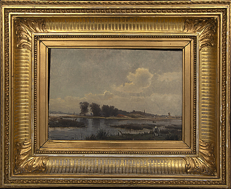Gustaf rydberg, oil on canvas, signed 71.