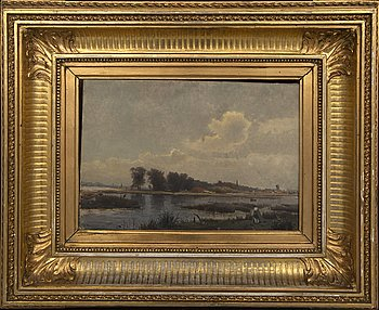 Gustaf Rydberg, oil on canvas, signed 71.