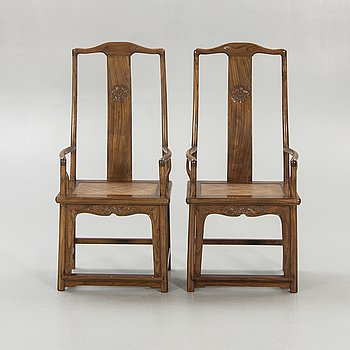 Chairs / armchairs, 2 pcs, China, second half of the 20th century.