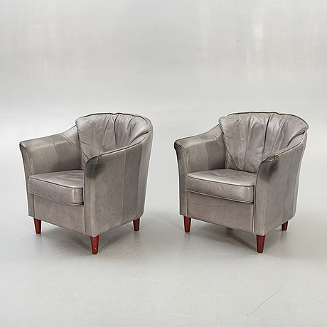 Armchairs, a pair, 1980s.