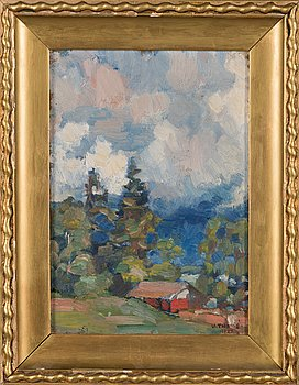 Verner Thomé, oil on board, signed and dated 1922.