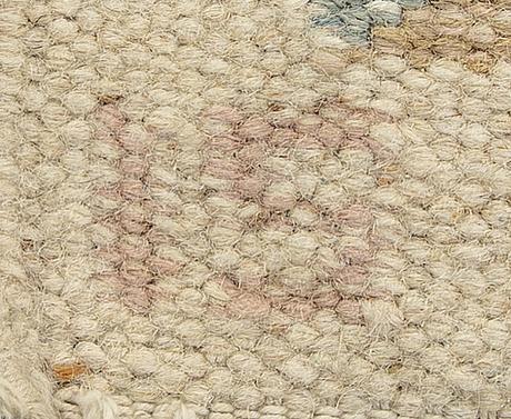A ingegerd silow signed falt weave carpet ca 190 x 140 cm.