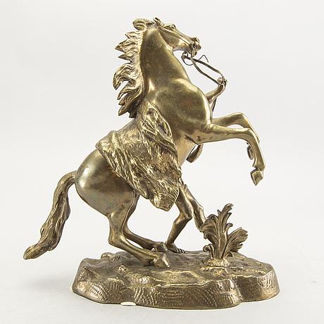 Guillaume cousteau, efter, skulptur i brons.