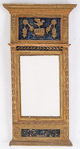 Spegel, sengustaviansk, tidigt 1800-tal.