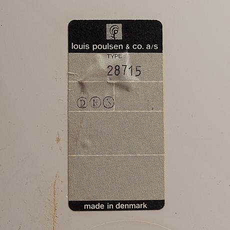 Verner panton, a 'panthella' floor light, 1970's.