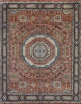 A carpet, Mamluk design, 305 x 240 cm.