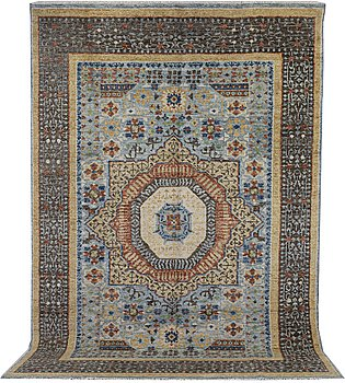 A carpet, Mamluk Design, ca 364 x 254 cm.