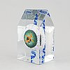 A glass sculpture,, by kjell engman, signed and numbered 30/60.