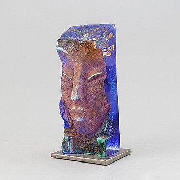 A unique glass sculpture by Björn Ekegren, signed.