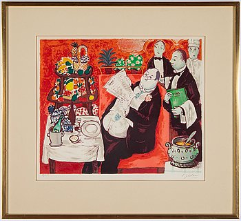 Lennart Jirlow, lithograph in colours, 1978, signed 29/310.
