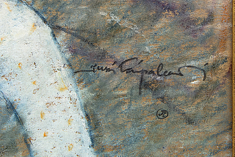 Jussi taipaleenmäki, a signed oil on board.