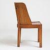 "Axel einar hjorth, a stained pine low back ""lovö"" chair, nordiska kompaniet, sweden 1930's."