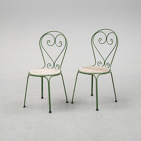 Six steel garden chairs from byarum.