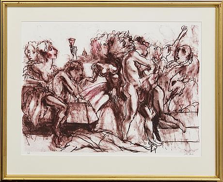 Peter dahl, a signed colour lithograph.