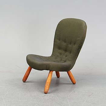 A Swedish Modern 'Clam Chair'/ 'Muslingestol', 1940's-50's.