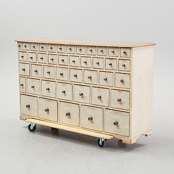 Painted desk with drawers, 20th Century.