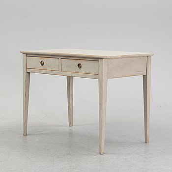 A painted writing desk, from around the year 1900.