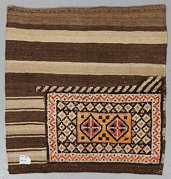 A rug, semi-antique, persian, ca 96 x 92 cm.