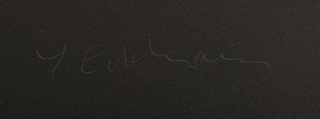 Yrjö edelmann, a signed colour lithograph.