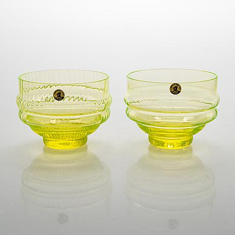 Nanny still, a 7-piece 'sultan' glass wear for riihimäen lasi oy.