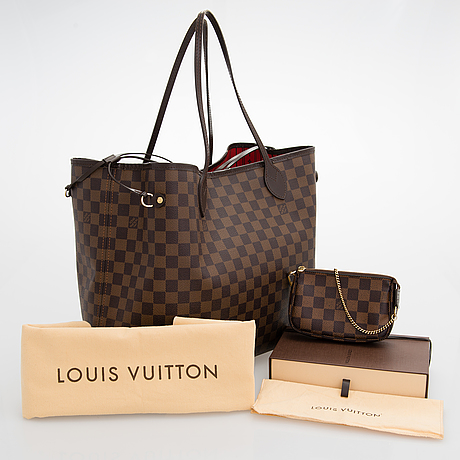 "Louis vuitton, ""neverfull gm"" laukku samt pochette."
