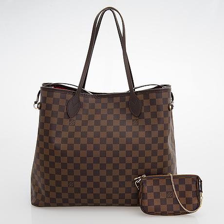 Louis vuitton, a damier ebene 'neverfull gm' bag and pochette.