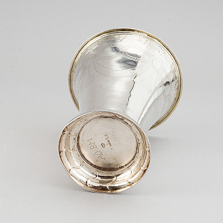 Nils nordlöf,  bägare, silver, härnösand 1793.