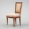 A gustavian chair by johan lindgren, stockholm, second half of the 18th century.