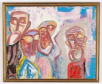 Imre Antonyi, acrylic on canvas, signed.