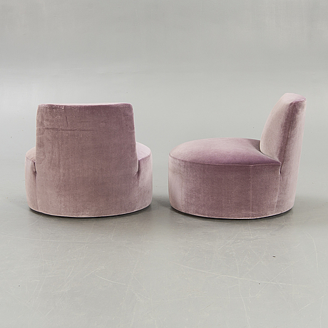 Lievore altherr molina, a pair of baobab easy chairs for tacchini italy 21st century.