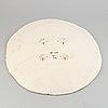 Bengt lindström, a ceramic dish, signed and numbered bl 4b 3/12.