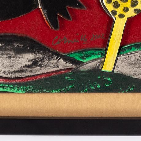 Beverloo corneille, multiple, relief, signed 3/5.
