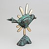 Beverloo corneille, sculpture, green patinated and polished bronze, signed and numbered 66/100, dated 2005.