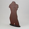 Michael qvarsebo, a painted wood sculpture, signed.