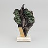 Stan wys, sculpture, patinated and polished bronze, signed and numbered 4/12, dated 1998.