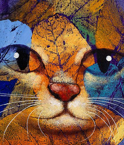 Michael qvarsebo, acrylic on canvas. dated 2019 verso.