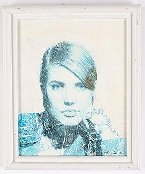 Michael Qvarsebo, akryl på duk, signerad och daterad 1990.