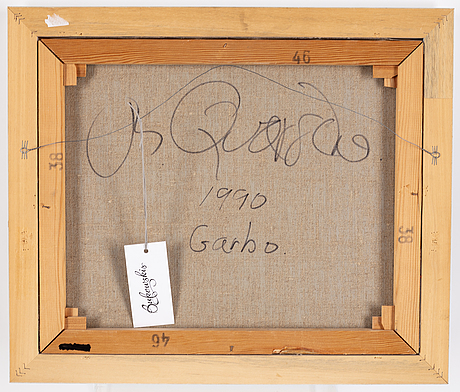 Michael qvarsebo, acrylic on canvbas, signed and dated 1990.
