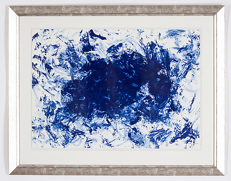 Yves klein, after, lithograph in colours, nembered 18/200 verso.