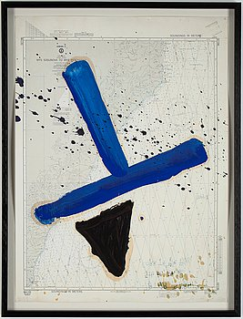 Julian Schnabel, silkscreen and colour off set, signed and indistingtly numbered.