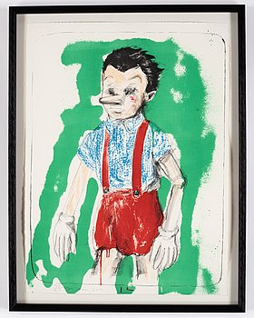 Jim Dine, lithograph in colours, 2011, signed 47/75.