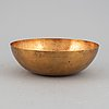 Tapio wirkkala, a bronze bowl, model tw 476, marked design tapio wirkkala, kultakeskus, made in finland.