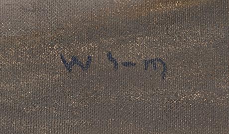 Wilho sjöström, olja på duk, signerad.