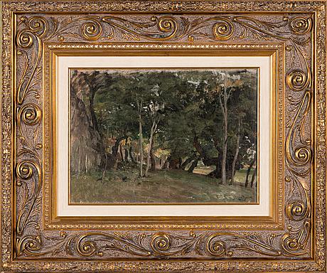 Berndt lindholm, oil on canvas, signed.