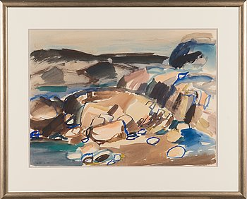 Guy Frisk, watercolour, signed and dated-65.